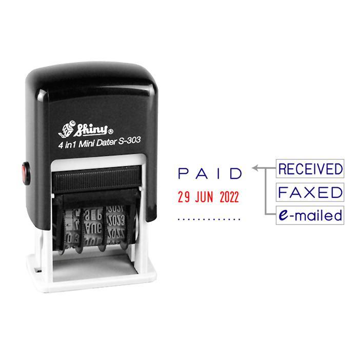 Shiny 4 in 1 Mini Date Stamp S-303