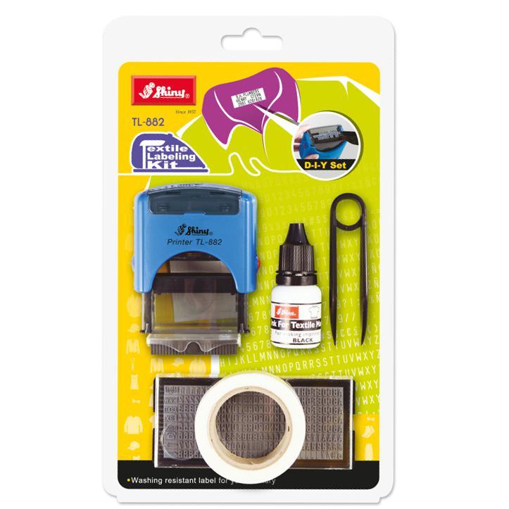 Shiny Self Inking Textile Labeling Kit TL-TL-882
