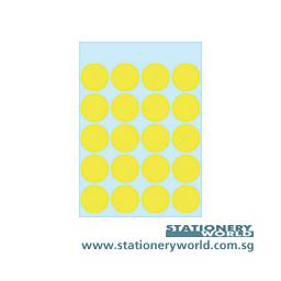 HERMA Adhesive Labels Yellow 19mm 1884