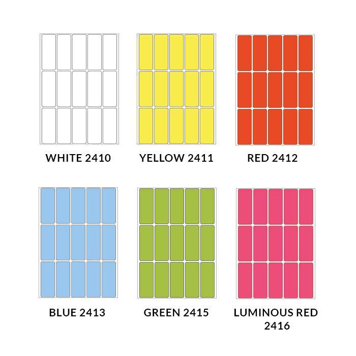 HERMA Adhesive Colour Labels 20 x 50mm