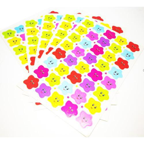 Stickers Star with Smiley Face Pack of 5