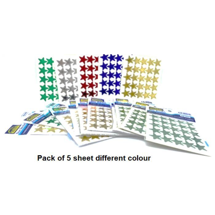 Suremark Stickers Star Pack of 5 SQ-1590