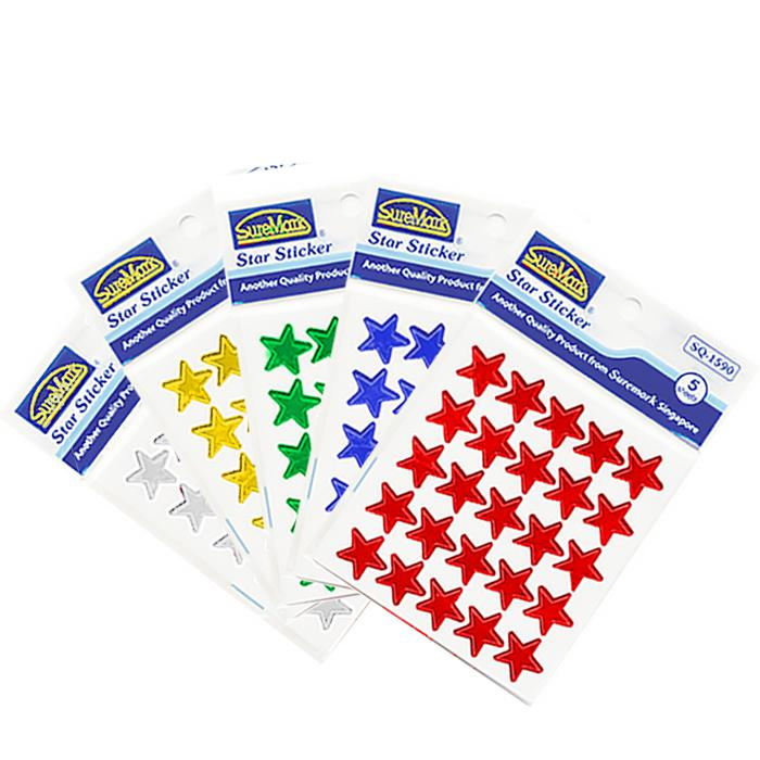 Suremark Stickers Star Pack of 5 SQ-1590