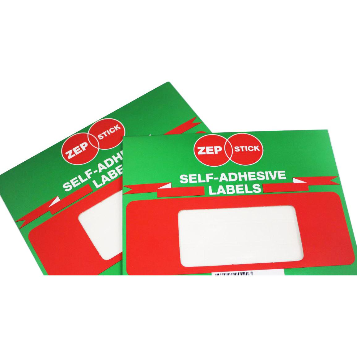 Zepstick Self Adhesive White Labels 50 x 85mm 5085