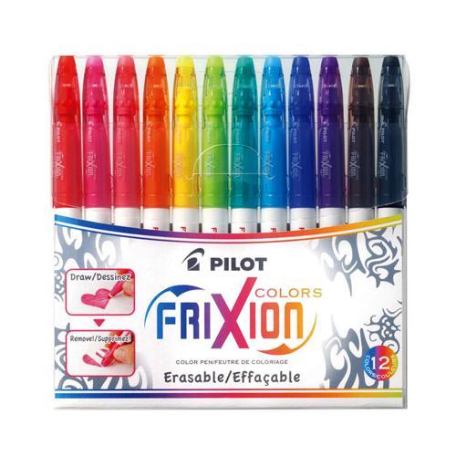 Pilot Frixion Erasable Marker Pen 12 Colours SWFCS12