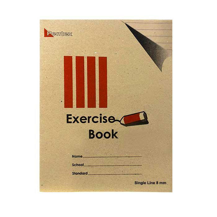 Pentex Soft Exercise Book Single Line 8mm 120B