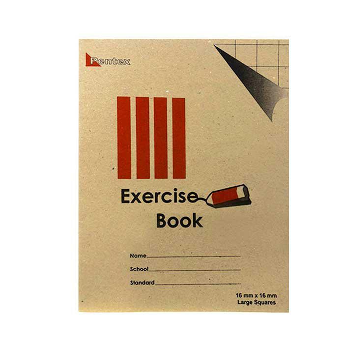 Pentex Soft Exercise Book Big Square 16mm 120B/80P