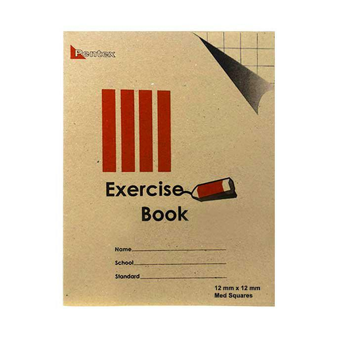 Pentex Soft Exercise Book Medium Square 12mm 120B/80P