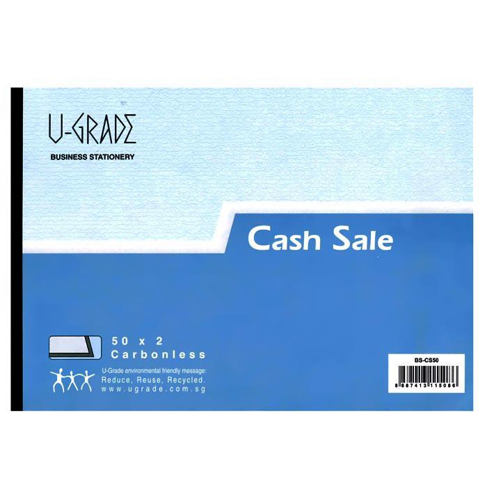 U-Grade Cash Sale Book 50 x 2 Ply