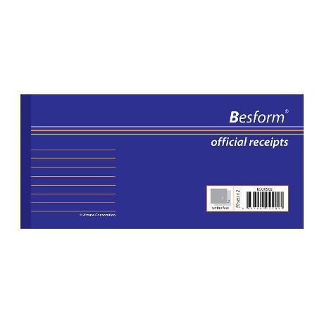 Besform Official Receipt 50 x 2 Ply