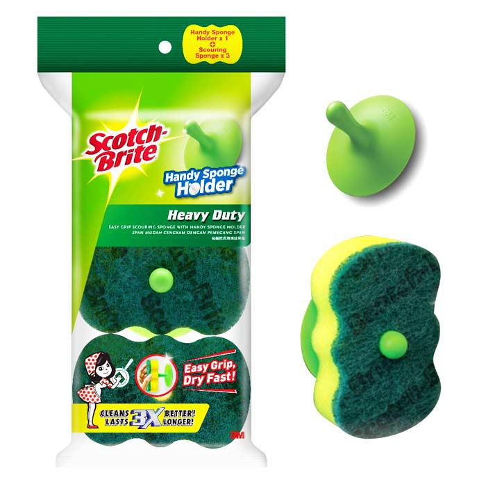 3M Scotch-Brite Easy Grip Sponge with Holder 21-3
