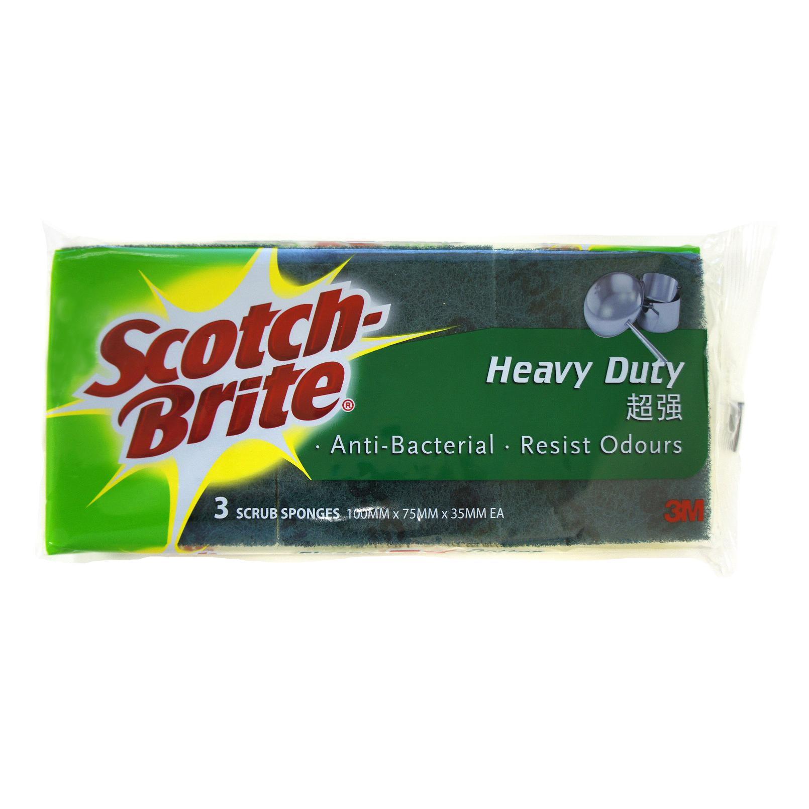 3M Scotch-Brite 2 in 1 Sponge Pad Pack of 3 CAT 213