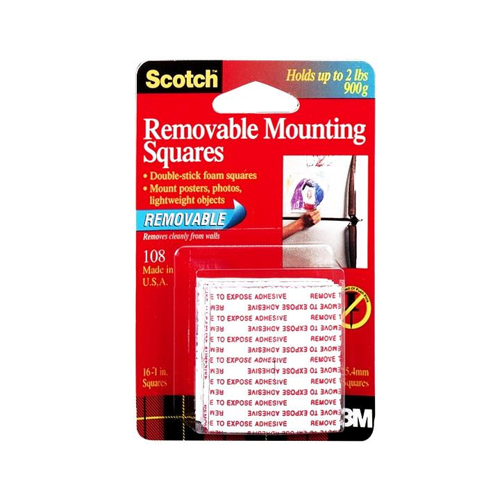 3M Removable Mounting Squares 108