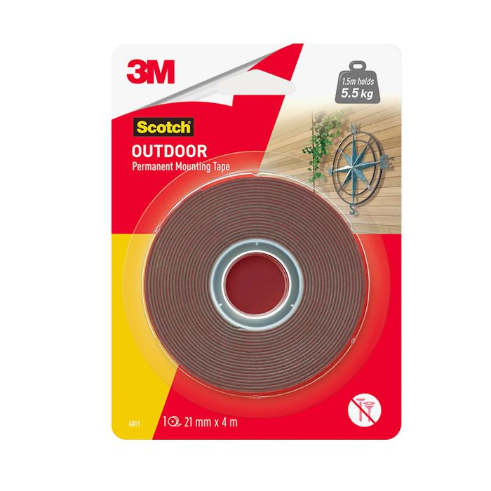 3M Outdoor Mounting Tape 21mm x 4M 4011-4M