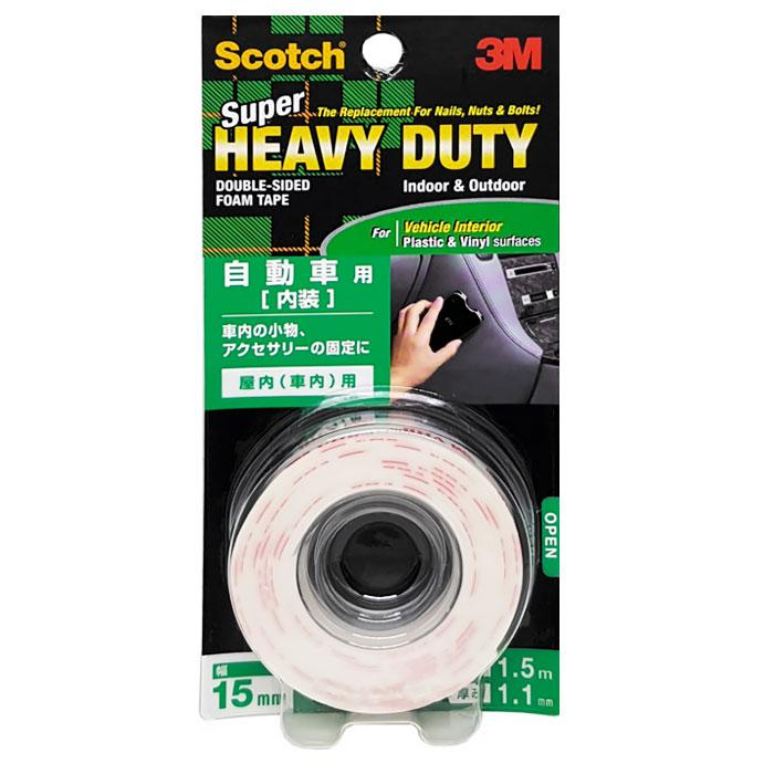 3M Scotch Heavy Duty Foam Mounting Tape for Interior KCP15