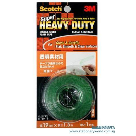 3M Scotch Heavy Duty Foam Mounting Tape for Flat Surface KTD19