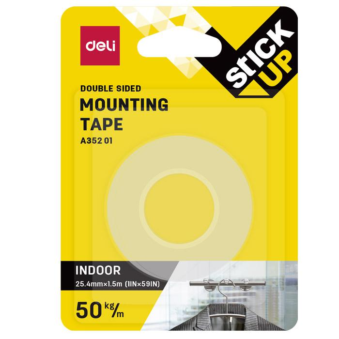 Deli Clear Mounting Tape 25mm x 1.5m EA35201