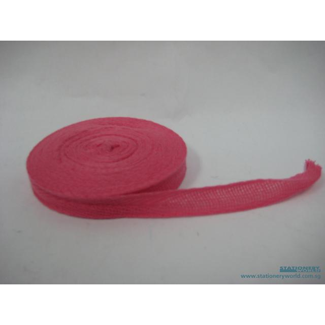 Pink Cotton Tape 13mm