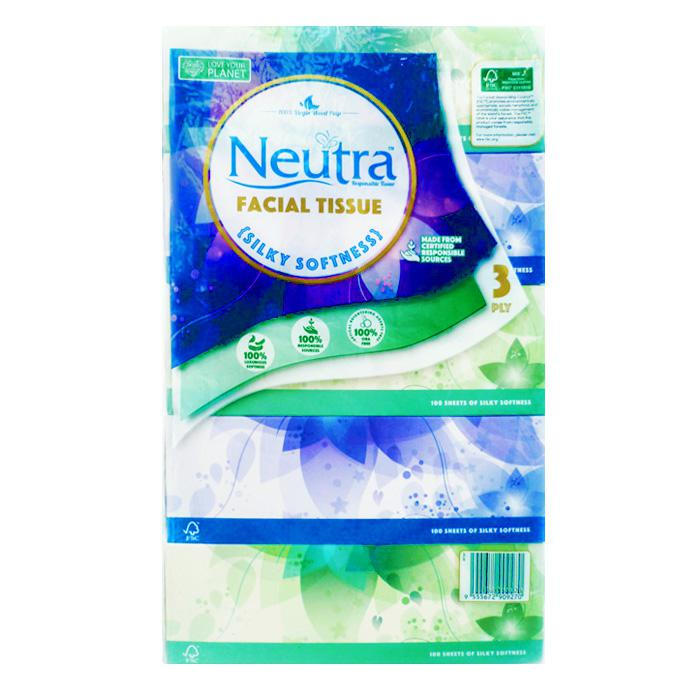 Neutra 3 Ply Facial Tissue Box Pack of 5