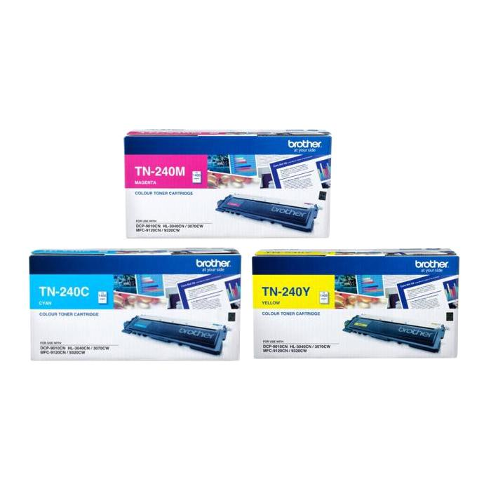 Brother Colour Toner Cartridge TN-240C/TN-240M/TN-240Y