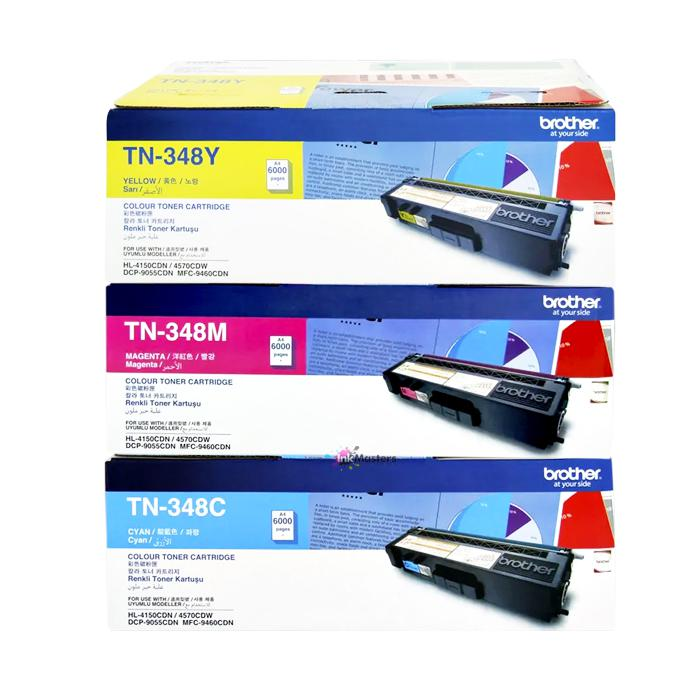 Brother Colour Toner Cartridge TN-348C/TN-348M/TN-348Y