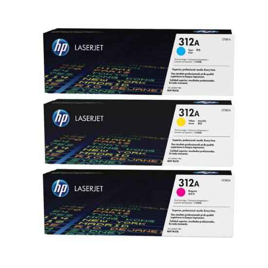 HP 312A Colour Original LaserJet Toner Cartridge CF381A/CF382A/CF383A