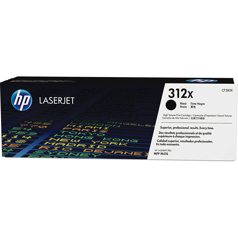 HP 312X Black High Yield Original LaserJet Toner Cartridge CF380X
