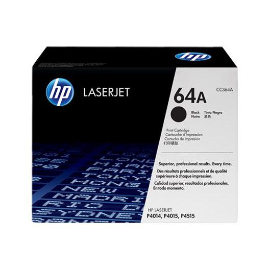 HP 64A Black Original LaserJet Toner Cartridge CC364A