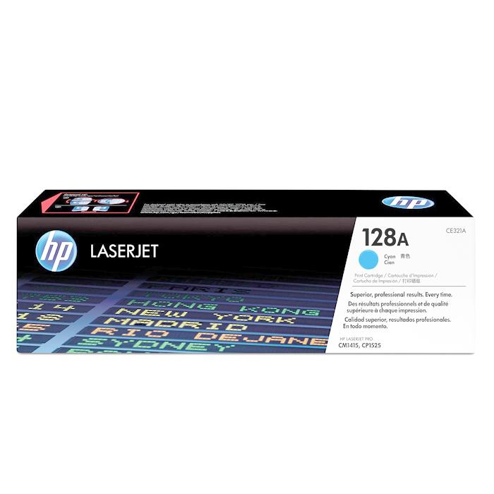 HP 128A Colour Original LaserJet Toner Cartridge Cyan CE321A