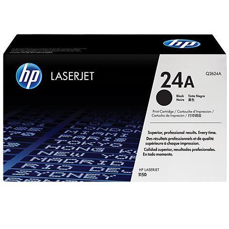 HP 24A Black Original LaserJet Toner Cartridge Q2624A