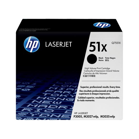 HP Toner Black Original Laserjet Toner Cartridge Q7551X