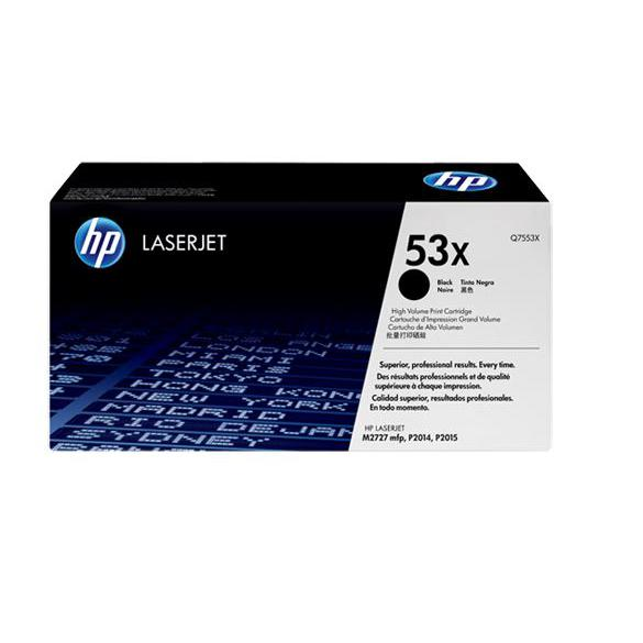 HP 53X Black Original LaserJet Toner Cartridge Q7553X