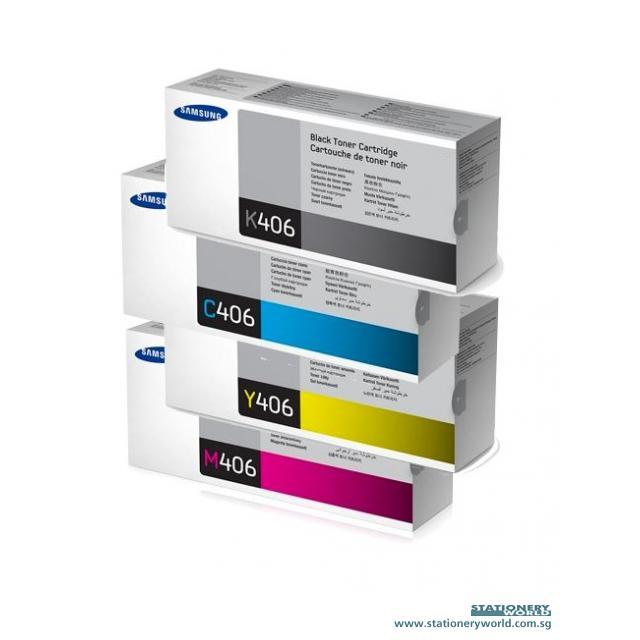 Samsung Colour Toner Cartridge CLT-K406S/CLT-C406S/CLT-M406S/CLT-Y406S