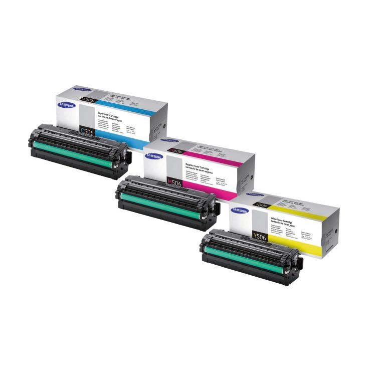 Samsung Colour Toner Cartridge CLT-C506/CLT-M506/CLT-Y506