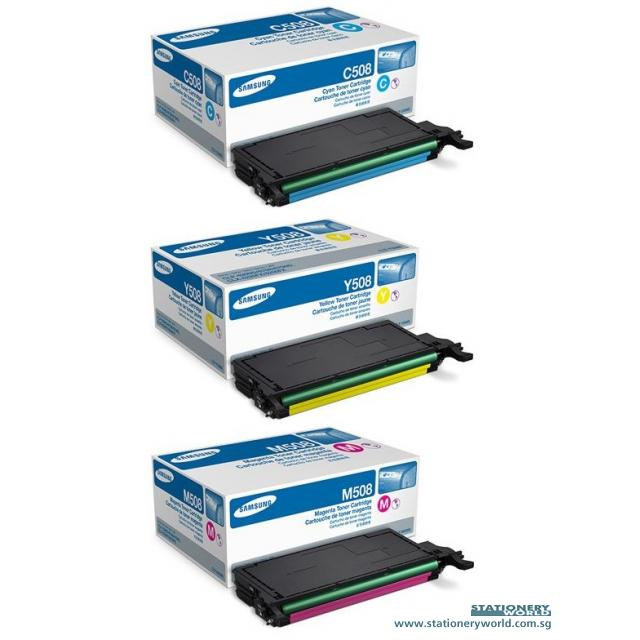 Samsung Colour Toner Cartridge CLT-C508L/CLT-M508L/CLT-Y508L