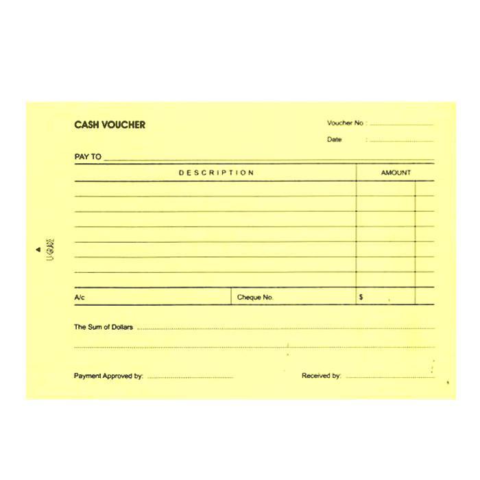 U-Grade Yellow Cash Voucher Pad of 100