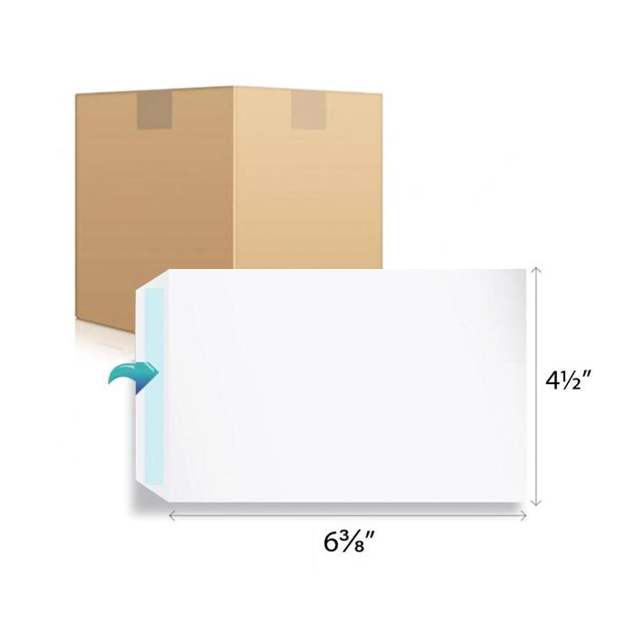 White Envelope 6.38 x 4.5 Inch C6 1000 Pcs