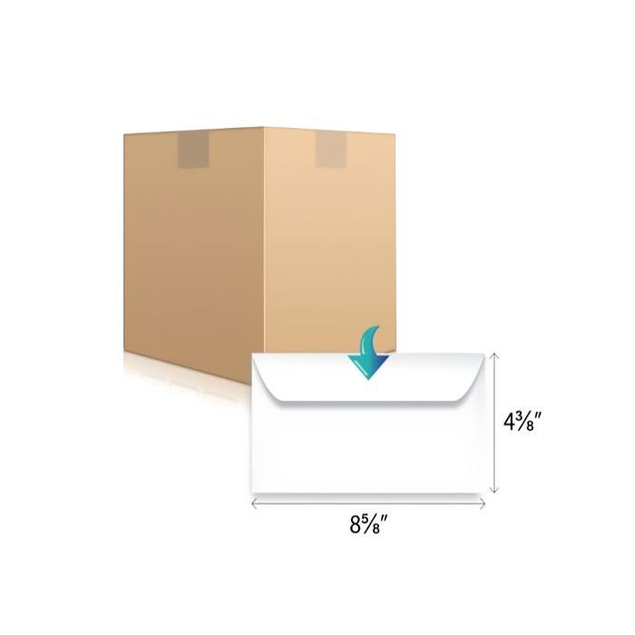 DL White Envelope 8.58 x 4.38 Inch 220 x 110mm (Pack of 500)