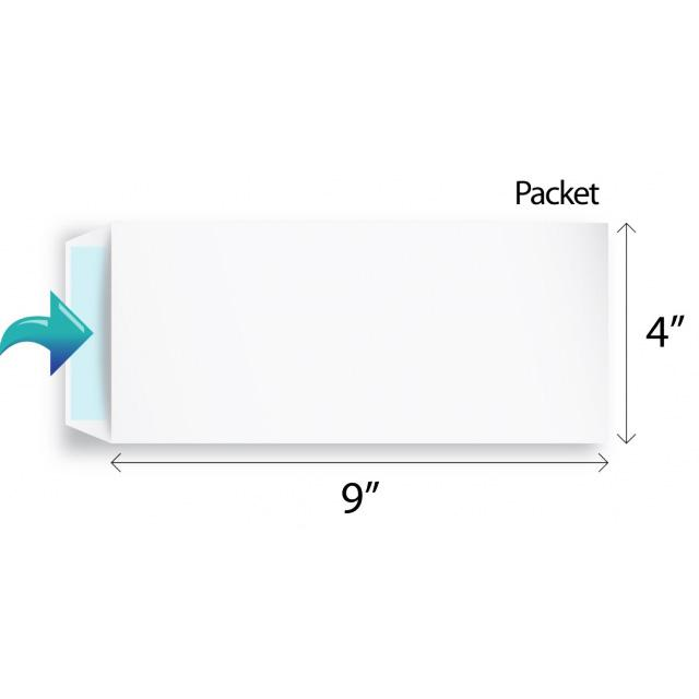 White Envelope 4 x 9 Inch (Pack of 25)