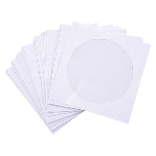 White CD Window Envelope 5 x 5 Inch Pack of 50