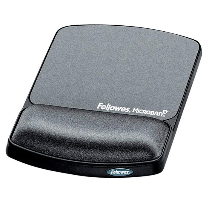 Fellowes Mouse Pad Wrist Rest Graphite 9175101