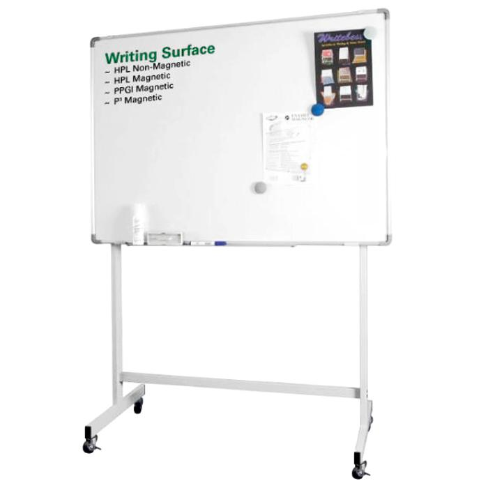 Single Sided Whiteboard with Stand and Roller 120 x 180cm (4 x 6 Foot)