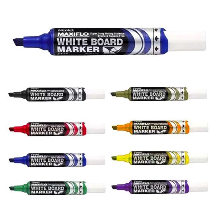 Pentel Maxiflo Whiteboard Marker Chisel MWL6