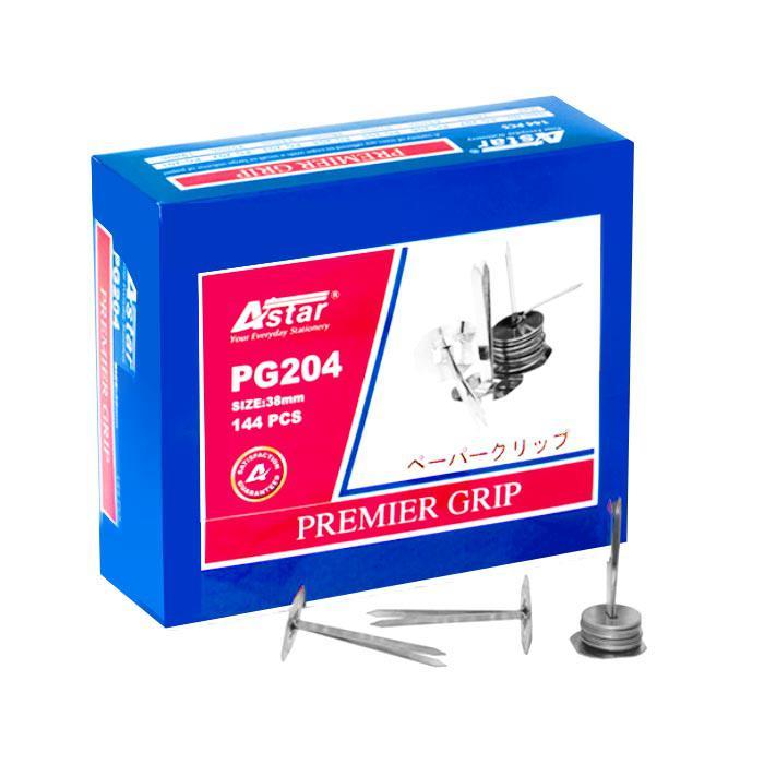 Astar Premier Binder Grip Fastener with Washer 38mm 144 Pcs PG-204