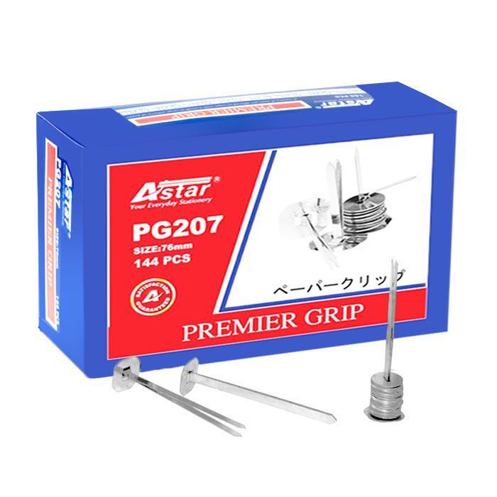 Astar Premier Binder Grip Fastener with Washer 76mm 144 Pcs PG-207