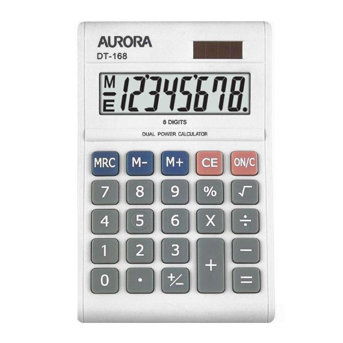 Aurora White Calculator 8 Digits DT-168