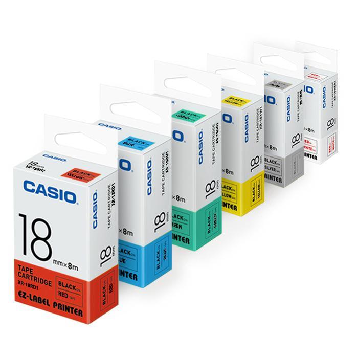 Casio EZ Label Printer Tape Cartridge 18mm XR-18
