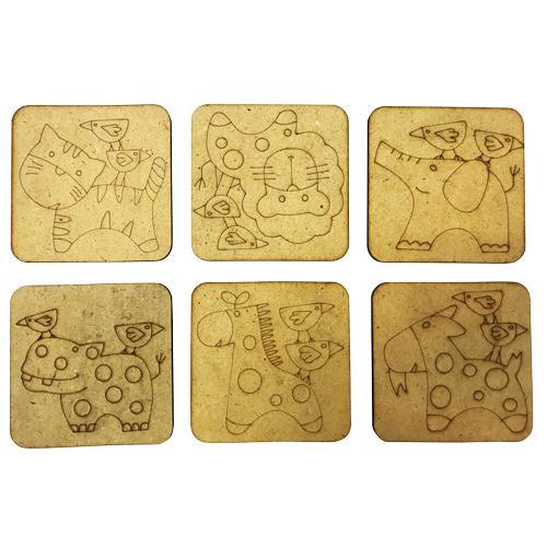 Wooden Animal Coaster