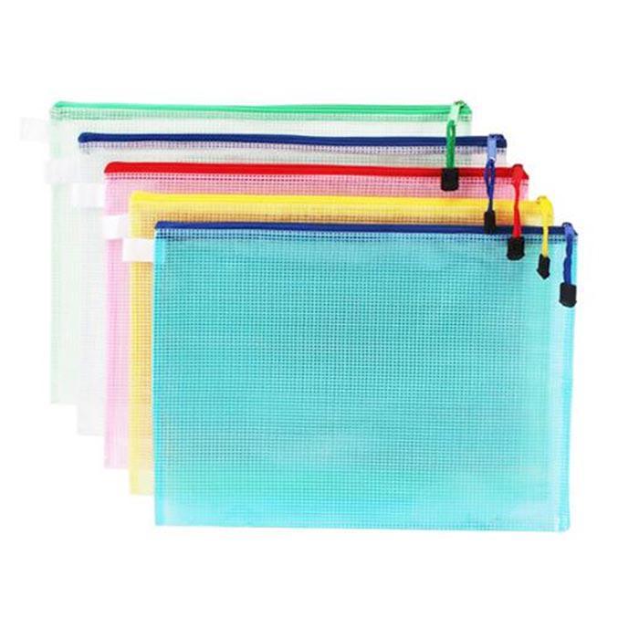 Colour Mesh Zip Bag A4