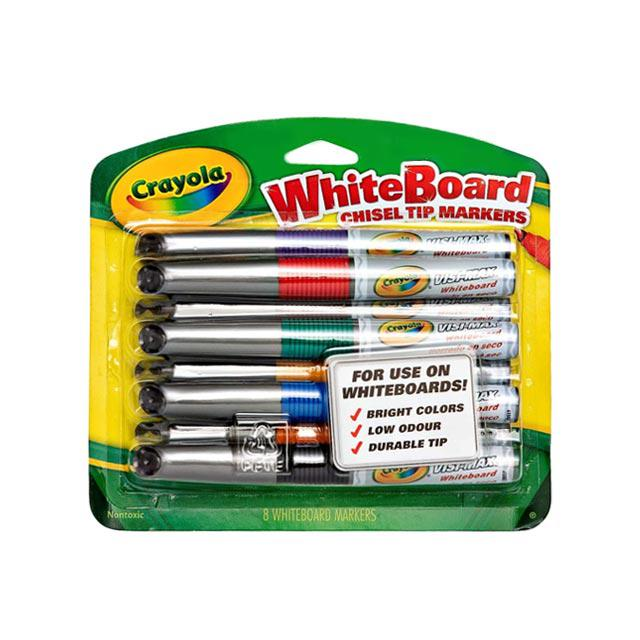 Crayola 8 Colour Dry Erase Whiteboard Marker